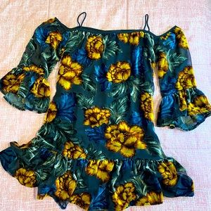 Forever 21 velvet floral dress